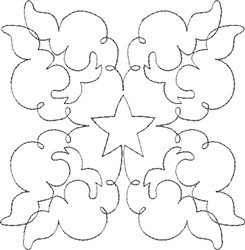 Angel Wings Single Run Quilt 2 embroidery design