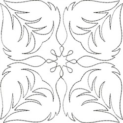Angel Wings Single Run Quilt 3 embroidery design
