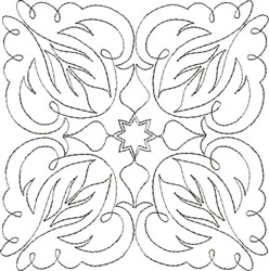 Angel Wings Single Run Quilt 5 embroidery design