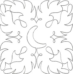 Angel Wings Single Run Quilt 6 embroidery design