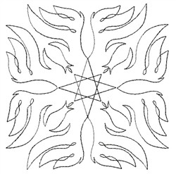 Angel Wings Single Run Quilt 7 embroidery design