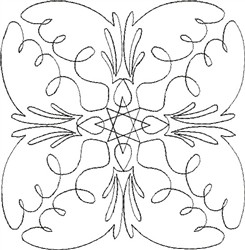 Angel Wings Single Run Quilt 10 embroidery design