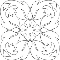 Angel Wings Single Run Quilt 11 embroidery design