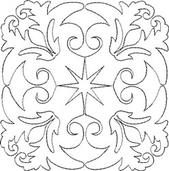 Angel Wings Single Run Quilt 12 embroidery design