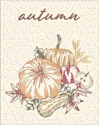 Autumn Mini Quilt embroidery design