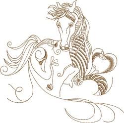 Fantasy Arabian embroidery design