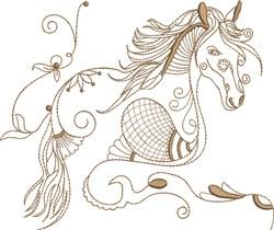 Fantasy Arabian Horse embroidery design
