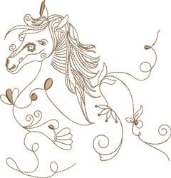 Fantasy Horse Head embroidery design