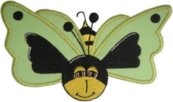 Green Butter Bee embroidery design