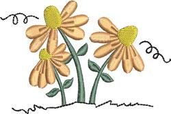 Orange Flowers embroidery design