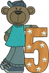 Birthday Bear embroidery design