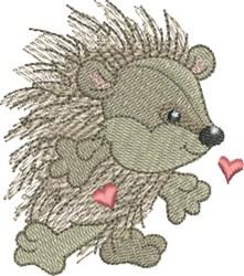 Hedgehog Sweetheart embroidery design
