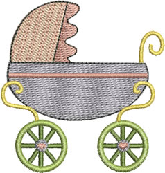 Baby Girl Pram embroidery design