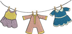 Baby Girl Clothes Line embroidery design