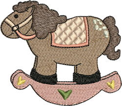 Girl Rocking Horse embroidery design