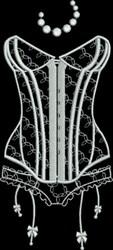 Bridal Lingerie Tulle Applique embroidery design
