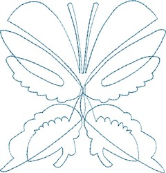 Butterfly 1 Single Run Quilt embroidery design