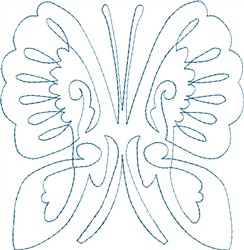 Butterfly 5 Single Run Quilt embroidery design