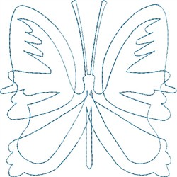 Butterfly 6 Single Run Quilt embroidery design