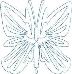 Butterfly 9 Single Run Quilt embroidery design