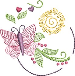 Butterfly Kisses 1 embroidery design