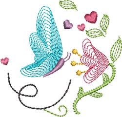 Butterfly Kisses 2 embroidery design