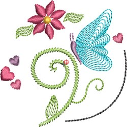 Butterfly Kisses 4 embroidery design