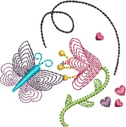 Butterfly Kisses 5 embroidery design