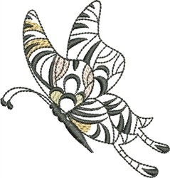 Butterfly Flight embroidery design