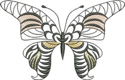 Open Butterfly embroidery design