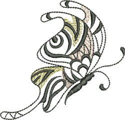Butterfly Sideview embroidery design