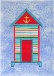 ITH Beach Hut Quilt Block 1 embroidery design