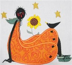 Blackdoll Applique embroidery design