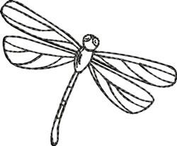 Blackwork Dragonfly embroidery design