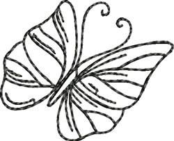 Blackwork Single Butterfly embroidery design