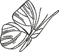 Blackwork Simple Butterfly embroidery design