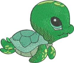 Squirt the Sea Turtle embroidery design