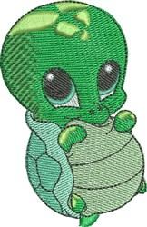 Bubbles the Sea Turtle embroidery design