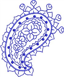 Bluework Paisley embroidery design