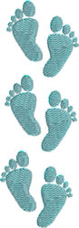 Baby Steps Border embroidery design