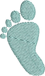 Baby Left Footprint embroidery design