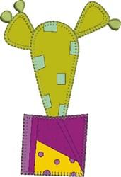 Modern Cactus Applique embroidery design