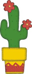 Saguaro Cactus Applique embroidery design