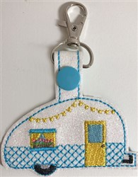 ITH Camper Key Fob 1 embroidery design