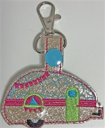 ITH Camper Key Fob 5 embroidery design