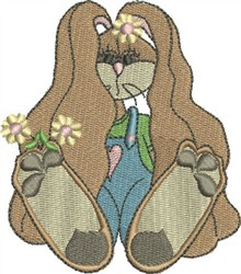 Cuddle Bunny Girl embroidery design