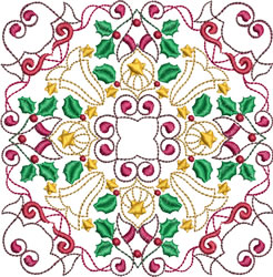 Christmas Pattern Blocks embroidery design
