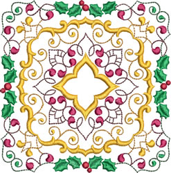 Christmas Pattern Blocks embroidery design
