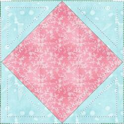 ITH Diamond in Square Quilt Block embroidery design
