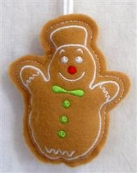 ITH Stuffed Ornament Snowman embroidery design